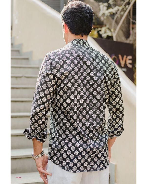 Black mughal printed shirt 2