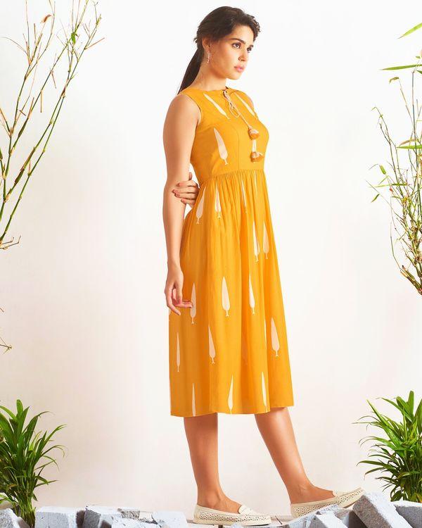 Yellow digital printed dress 2