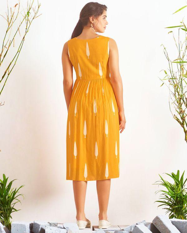 Yellow digital printed dress 1