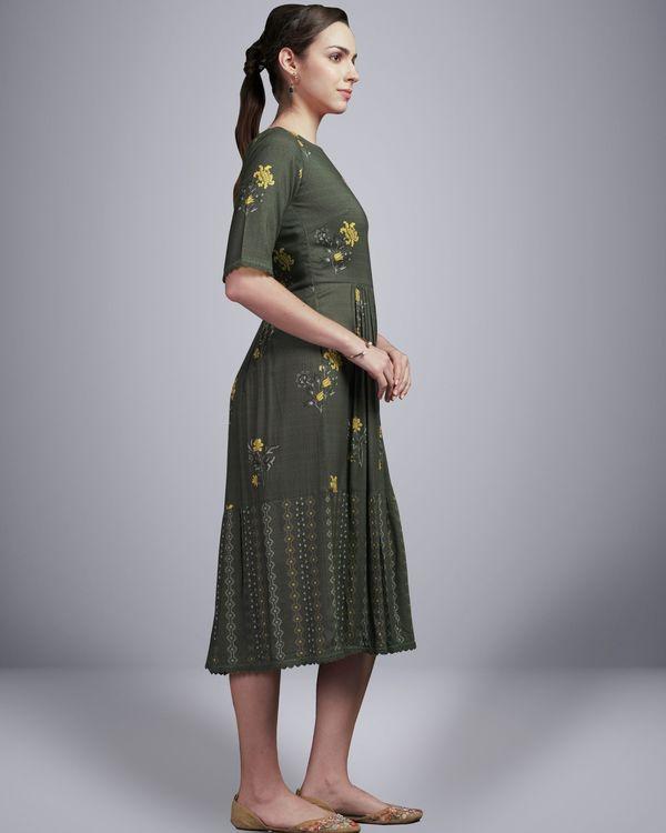 Grey floral digital printed dress 3