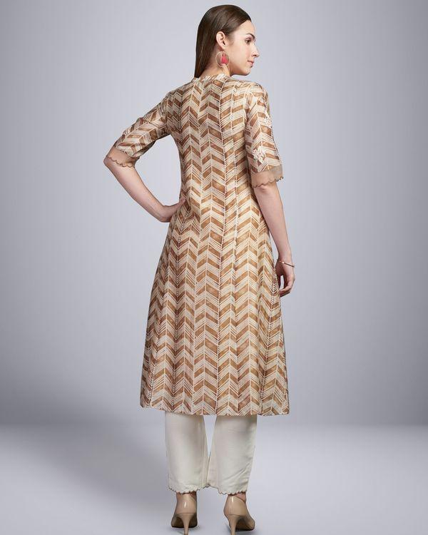 Brown chikankari embroidered kurta 2