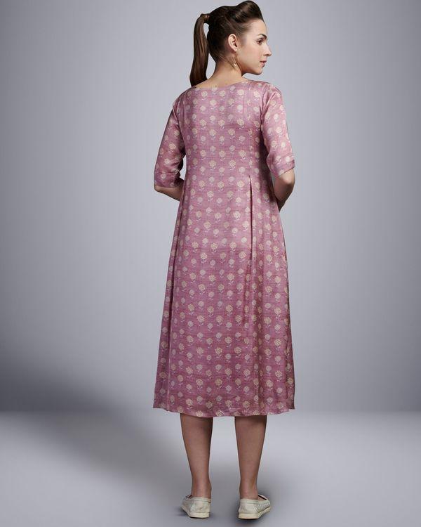 Lavender embellished digital printed dress 2