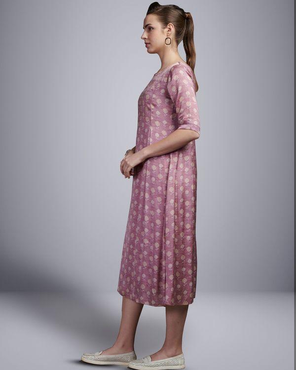Lavender embellished digital printed dress 1
