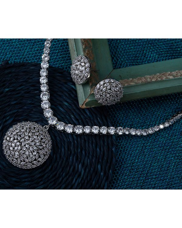 Crystal necklace and earring - set of two 4