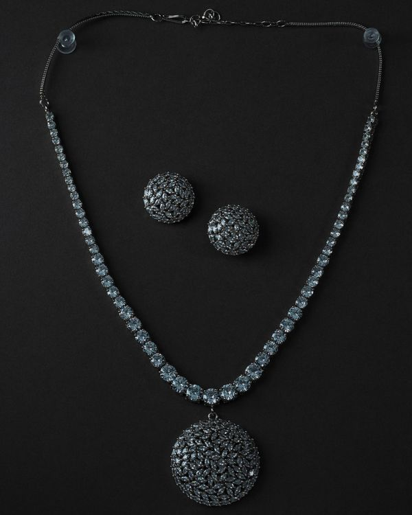 Crystal necklace and earring - set of two 3