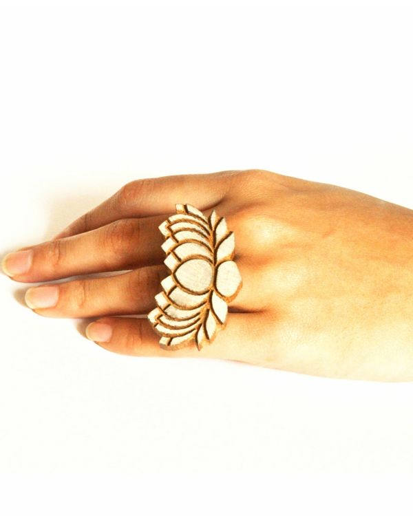Lotus handcrafted ring 1