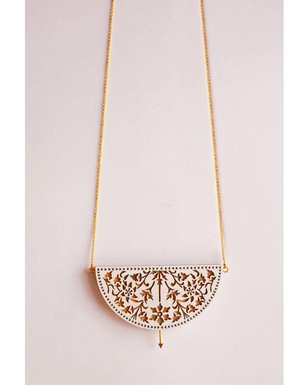 Half circle hand crafted neckpiece 1