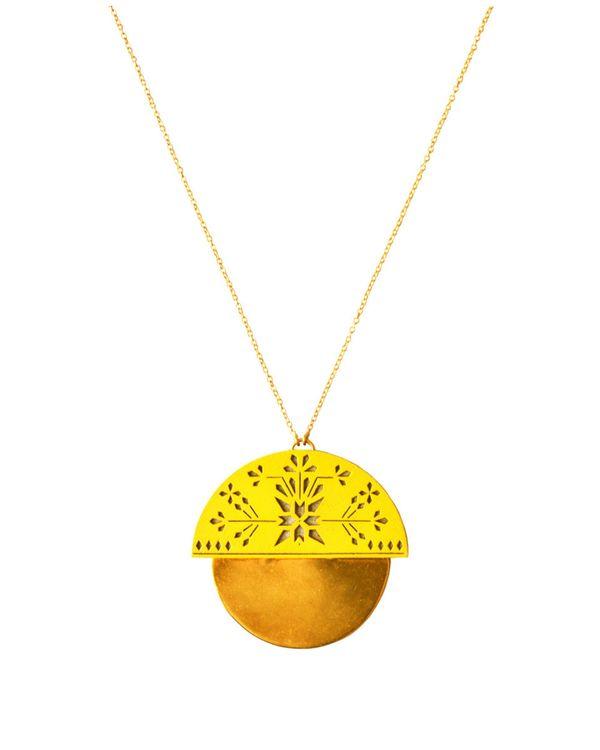 Yellow shield neckpiece 1