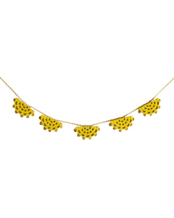 Yellow sun neckpiece 1