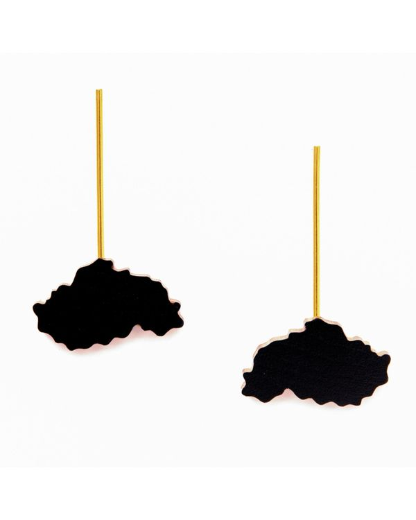 Black cloud earrings 1