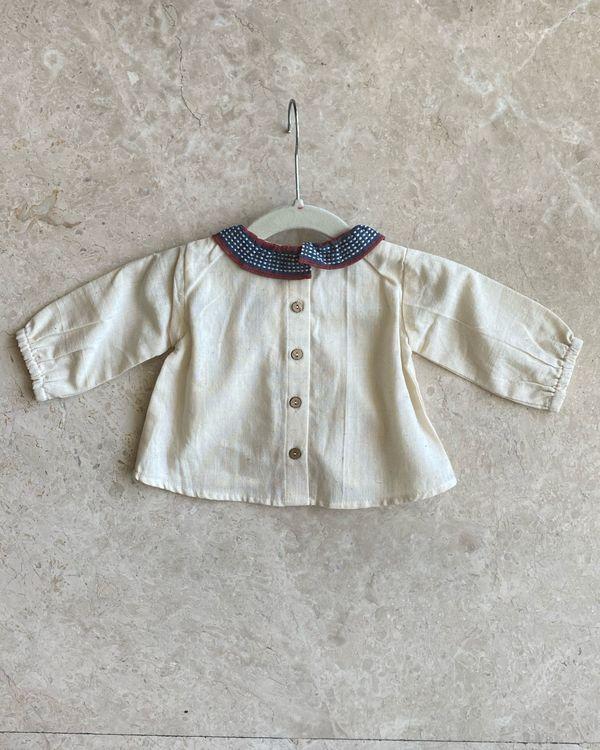 Off white malkha cotton top 1