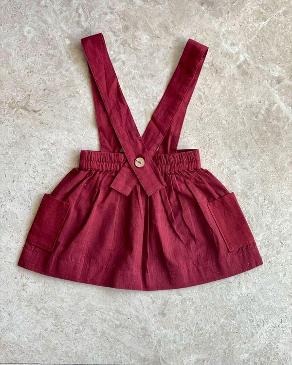Red suspender skirt 2