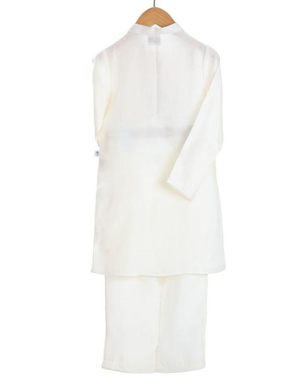 Ivory yoke detailed kurta and pants - set of two 1
