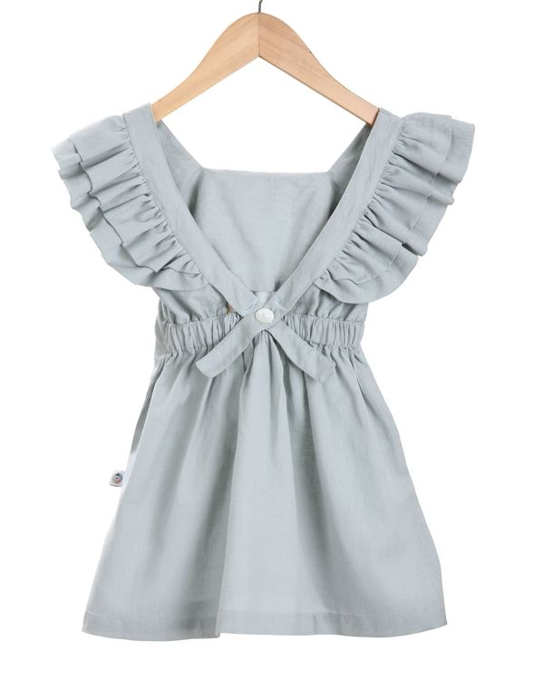 Grey butterfly embroidered dress 1