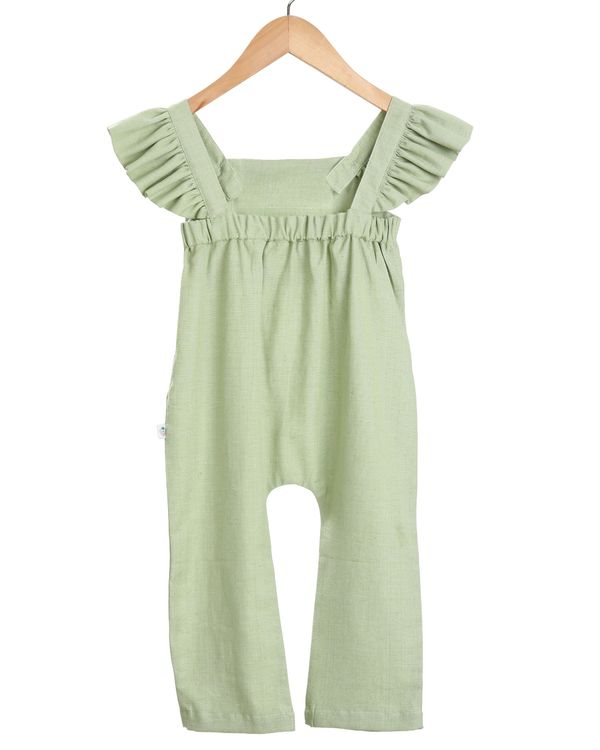 Mint floral embroidered jumpsuit 1