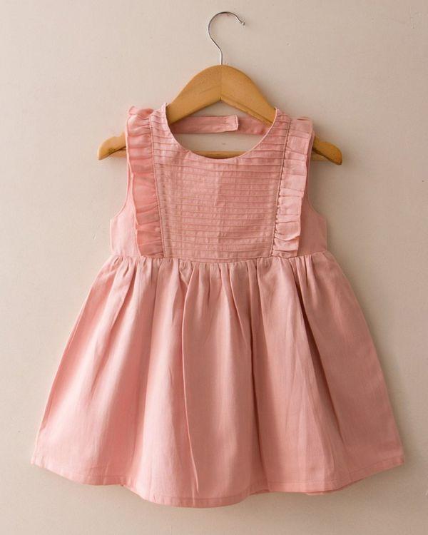 Pink pin-tuck dress 1