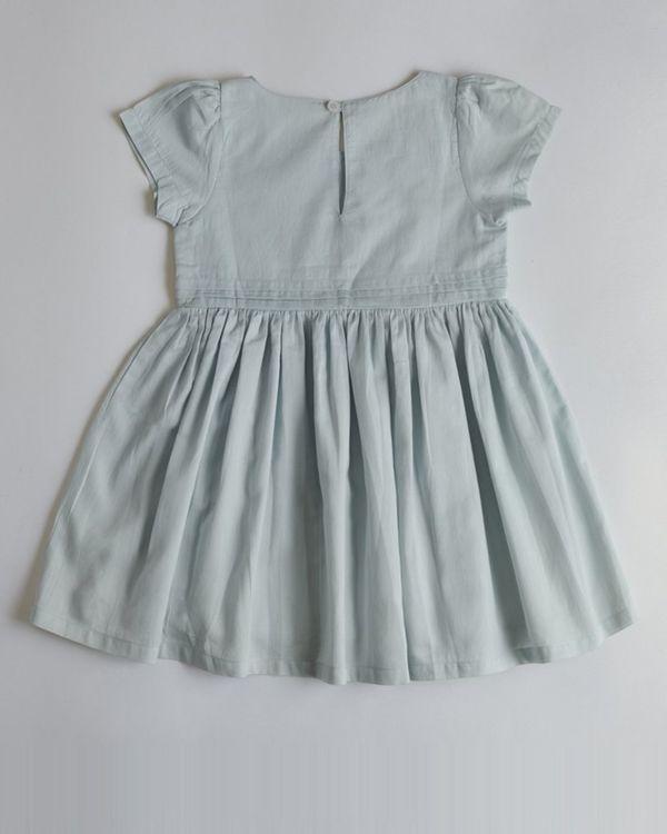 Powder blue panelled dress 1