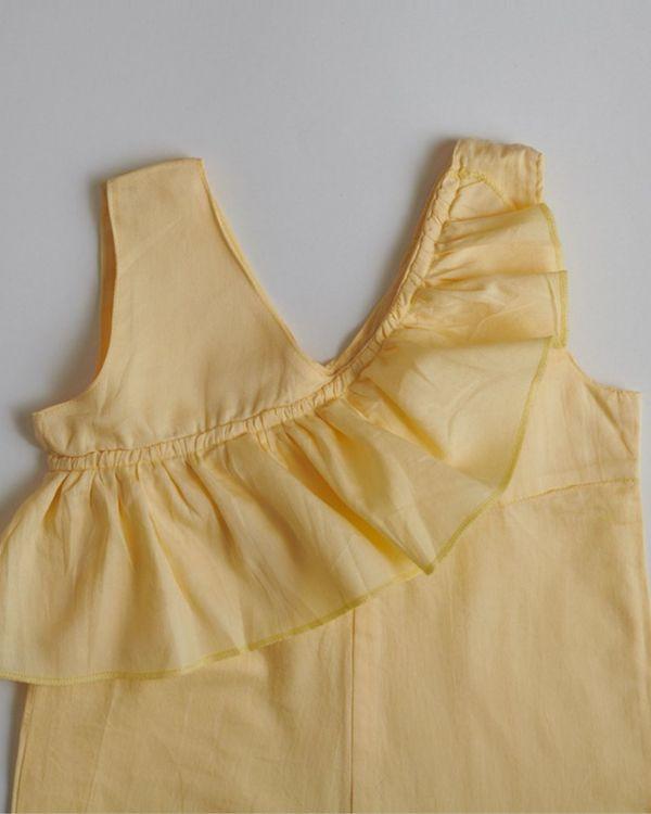 Yellow ruffled romper 2