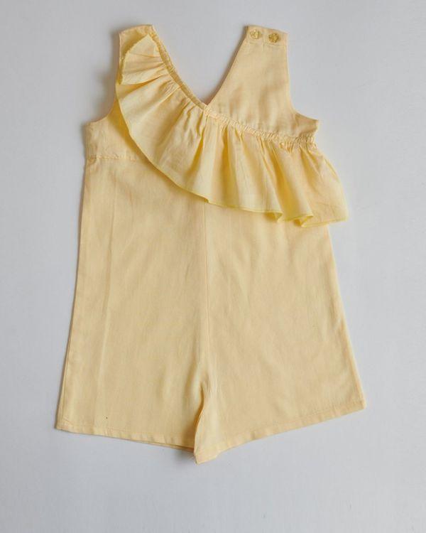Yellow ruffled romper 1
