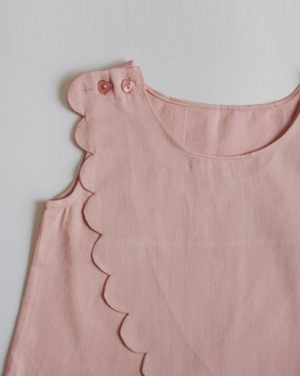 Pink overlap scallop top 3
