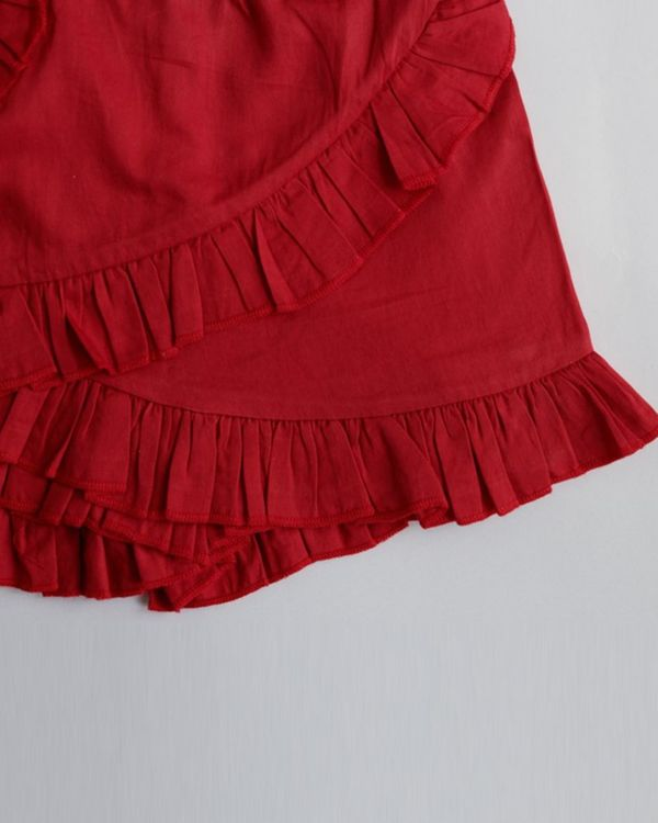 Red ruffled skorts 2