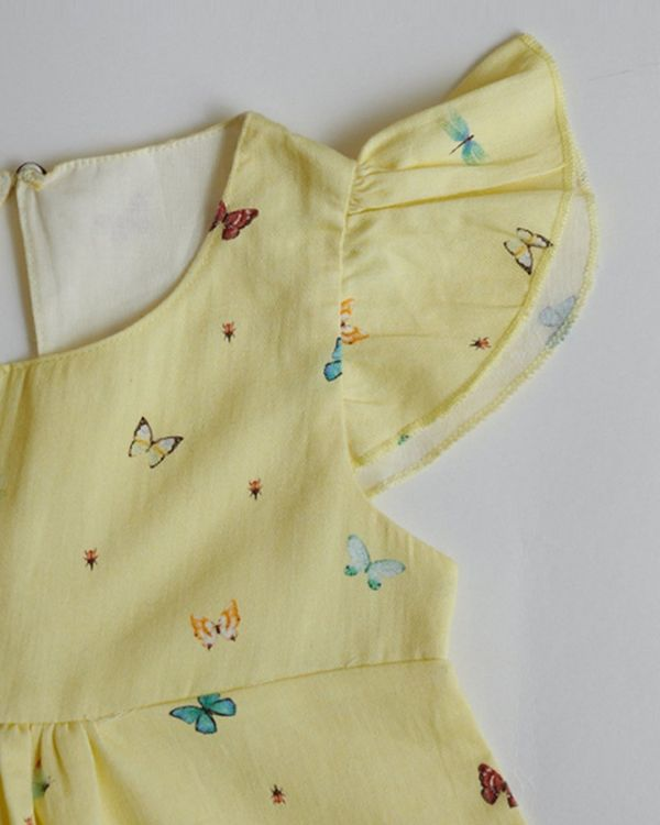 Yellow butterfly printed top 1