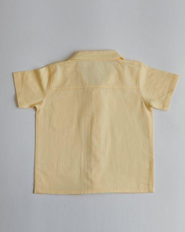 Yellow organic cotton shirt 2