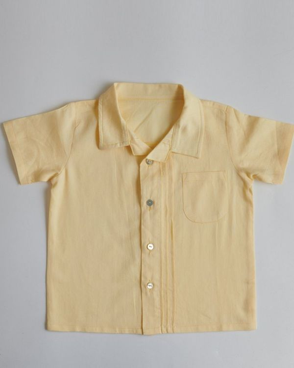 Yellow organic cotton shirt 1