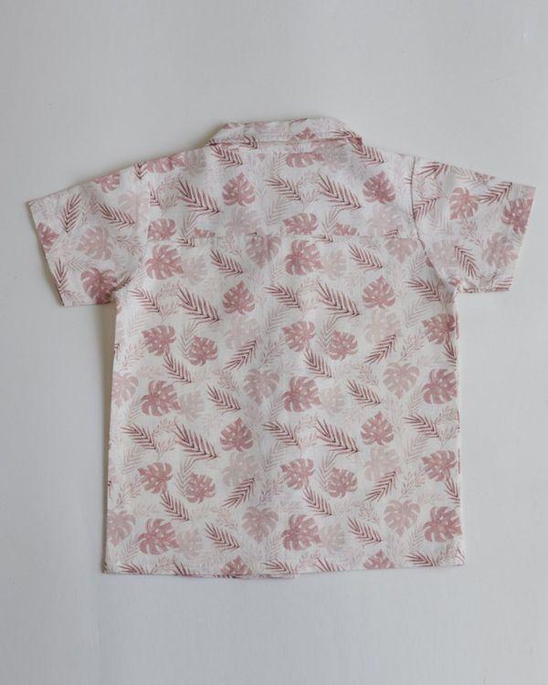 Pink tropical printed shirt 2