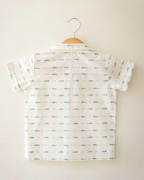 Off white limes and eucalyptus printed shirt 2