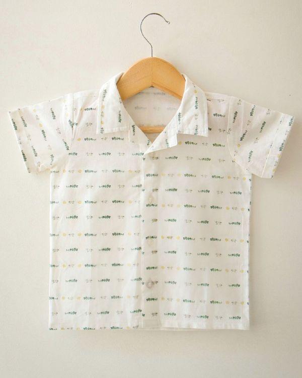 Off white limes and eucalyptus printed shirt 1
