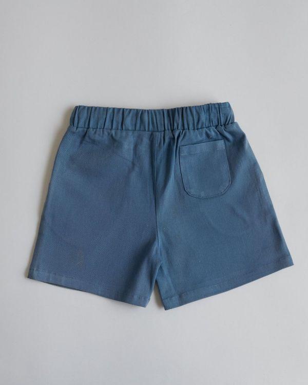 Blue organic cotton shorts 1