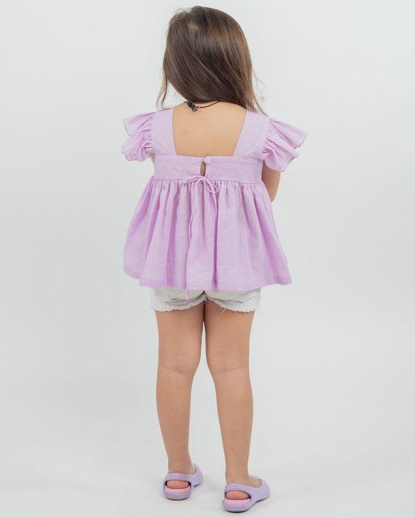 Lilac ruffled top 2