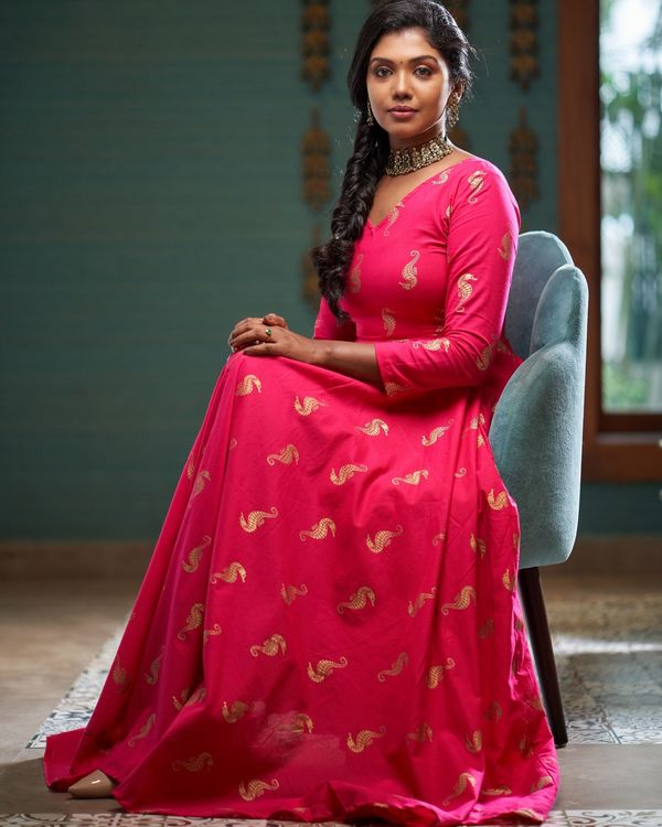 Rani pink seahorse printed dress 3