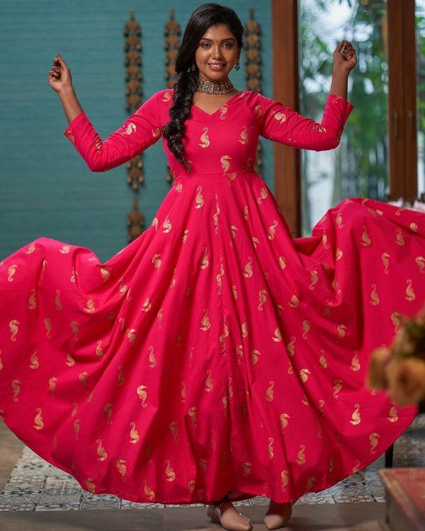 Rani pink seahorse printed dress 2