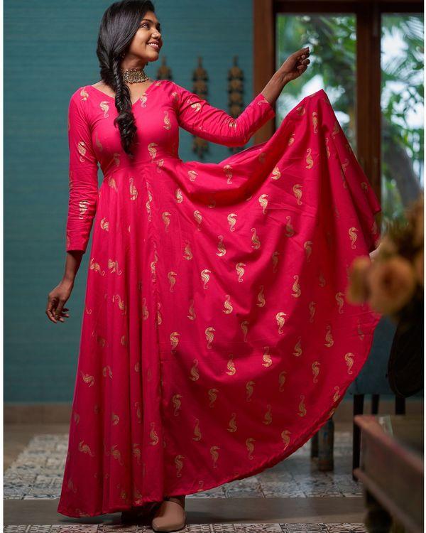 Rani pink seahorse printed dress 1