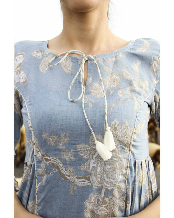 Blue princess floral kurta 1