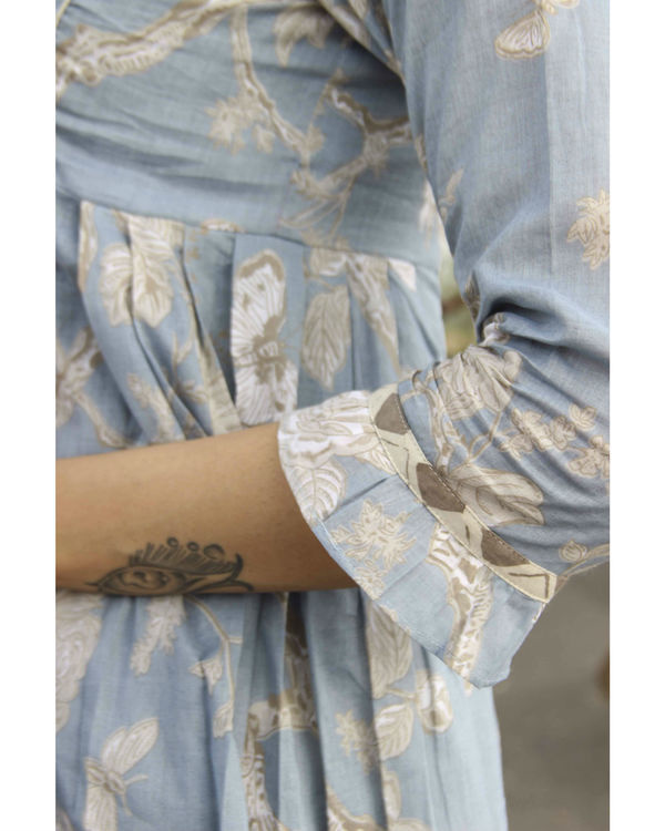Blue princess floral kurta 2