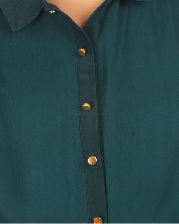 Teal dhoti wrap dress 2