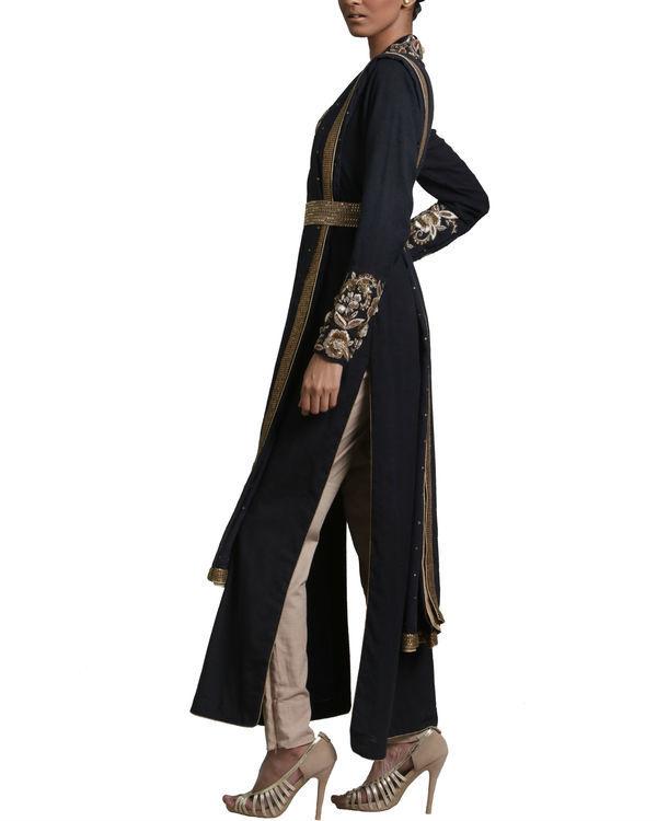 Black peshwa kurta set 1