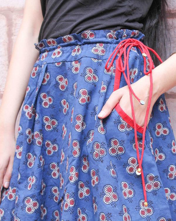 Indigo double layered skirt 1
