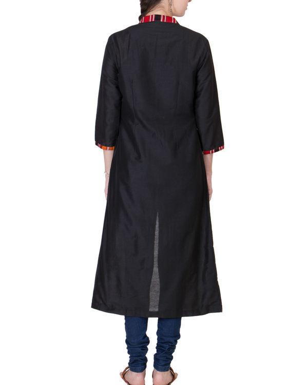 Black cotton silk wrap 1