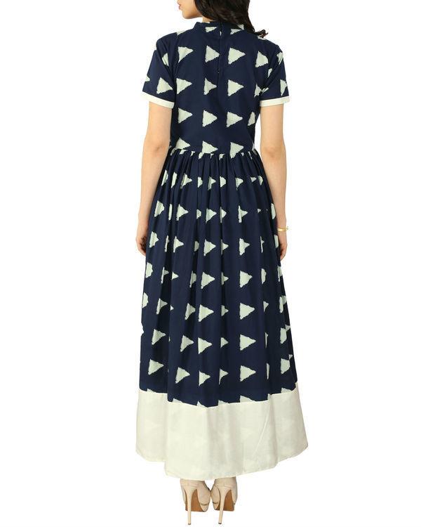 Navy block dress 2