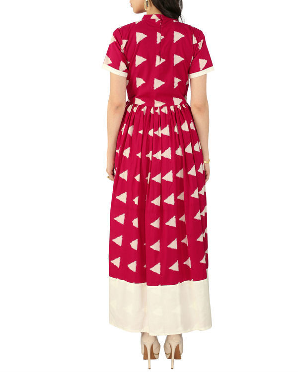 Pink block dress 2