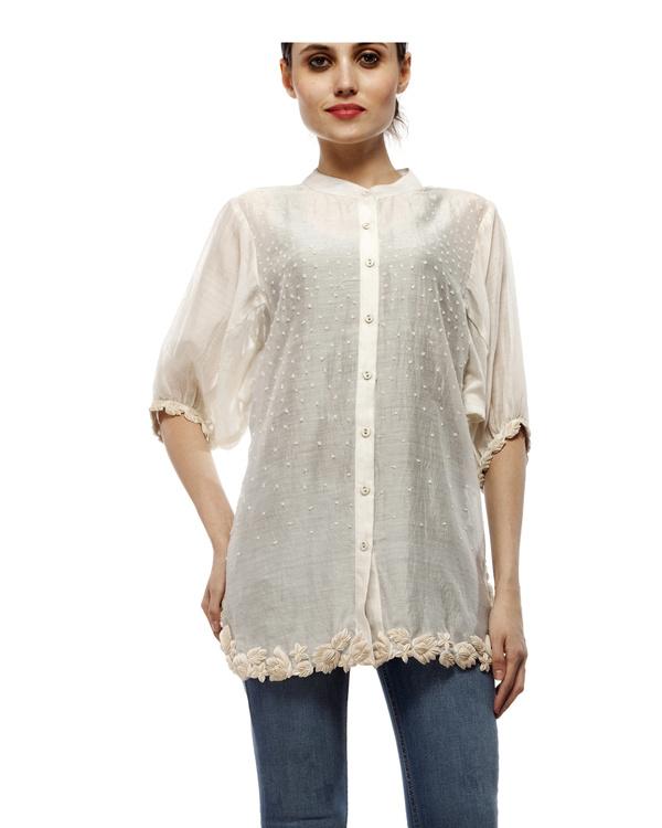 Cotton silk cut work shirt 4