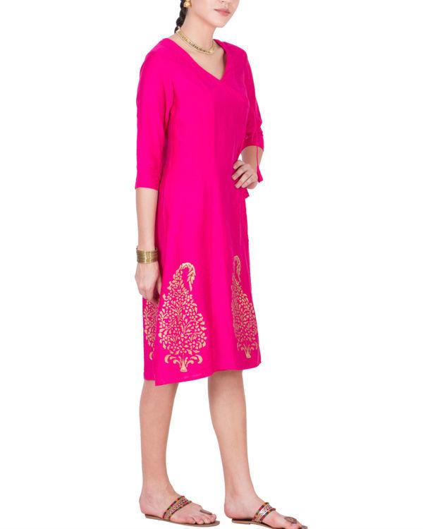 Pink angrakha dress 1