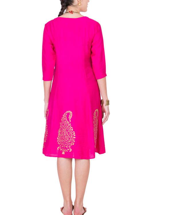 Pink angrakha dress 2