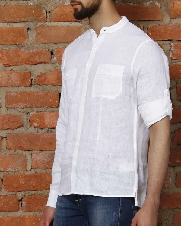 White linen kurta shirt 2