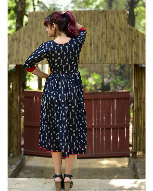 Black ikat tasseled dress 2