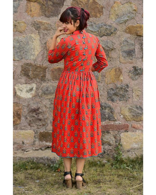 Red phoolbuti dress 2